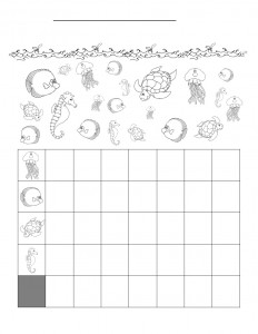 sea animal graph worksheet for kids