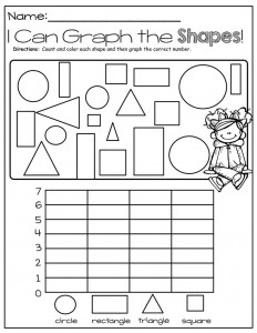 shapes graph worksheets