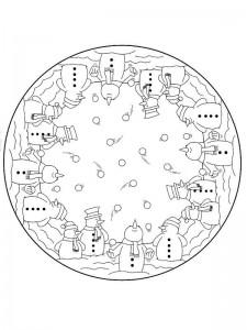 snowman mandala coloring page (1)