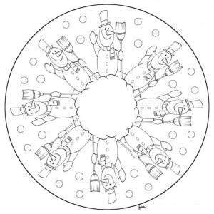 snowman mandala coloring page (3)