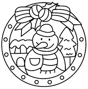 snowman mandala coloring pages