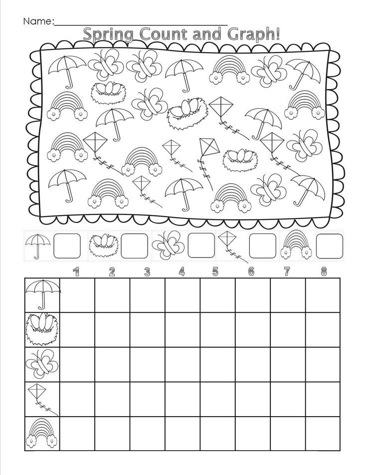 Picture graphing worksheets for kindergarten