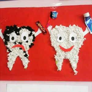 tooth craft for preschool (3)