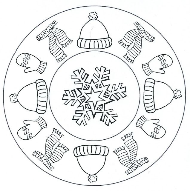 winter clothes mandala coloring (2)