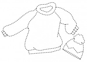 winter clothes tracing worksheet