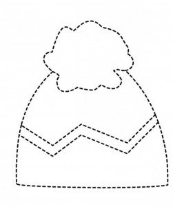 winter hat trace line worksheet (1)