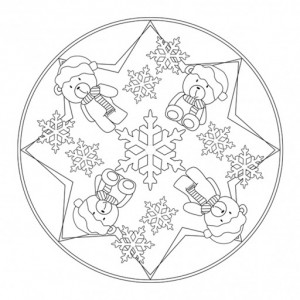 winter mandala coloring page