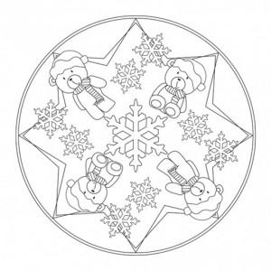 winter mandala coloring page