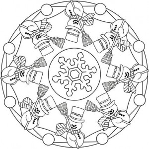 winter mandala coloring pages 5