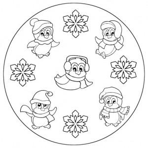 winter coloring pages mandala - photo#23