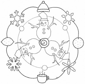 winter season mandala coloring (2)