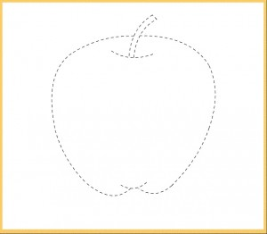 apple trace line worksheet for kids (2)