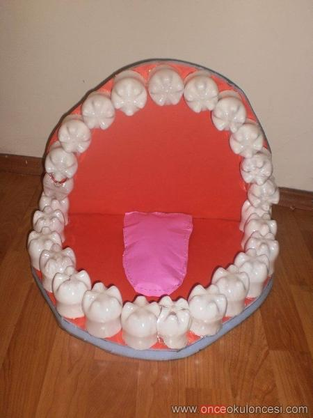 bottle tooth craft idea