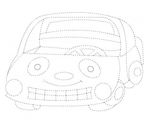 car trace line worksheet