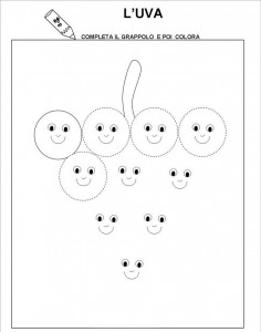 free printable grape trace line worksheet for kids