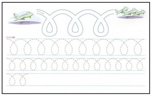 free printable plane tracing worksheet