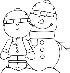free printable snowman coloring page (1)