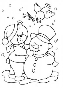 free printable snowman coloring page (2)