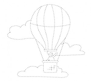 hotair balloon trace line worksheet