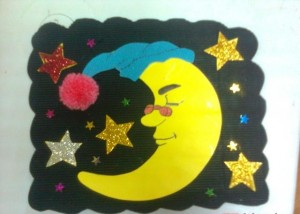 moon craft idea for kids