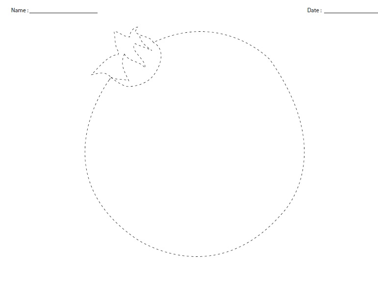 pomegranate tracing worksheet