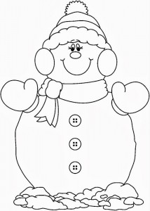 snowman coloring page (2)