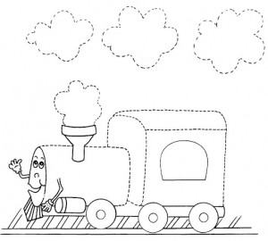train tracing worksheet