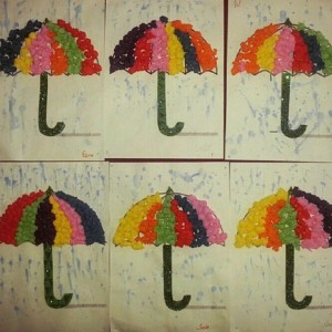 umbrella craft idea for kids (1)