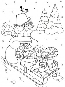 winter season coloring page (4)