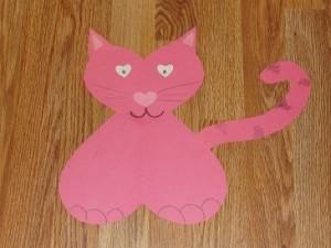 Valentine's Day Heart Cat Kids Craft