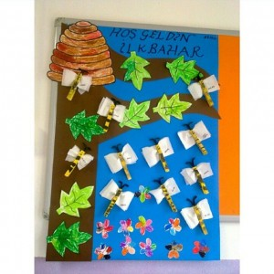 bee bulletin board idea for kids (1)