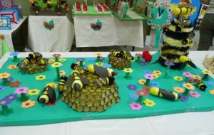 bottle cap bee craft