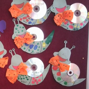 cd snail craft idea (1)