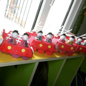 egg carton firetruck craft