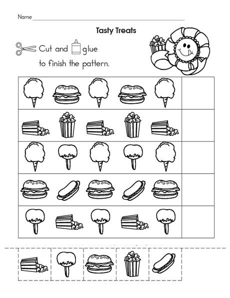 Food Pattern Worksheet (1) Crafts And Worksheets For Preschool,Toddler  And Kindergarten