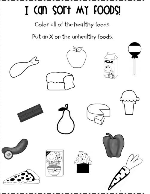 Food Worksheet For Kids 1 Crafts And Worksheets For Preschool Toddler And Kindergarten
