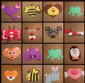 heart animals craft (2)