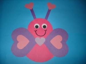 heart butterfly craft (2)