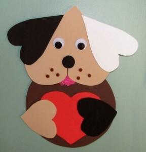 heart puppy craft idea