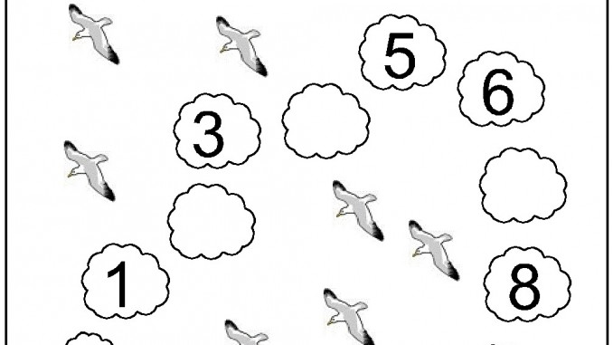 Missing Number Worksheet For Kids(1-10)