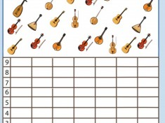 musical instruments number count worksheet for kids (3)