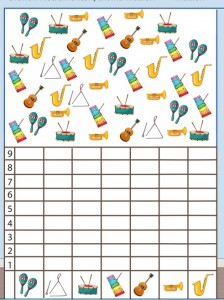 musical instruments number count worksheet for kids (4)