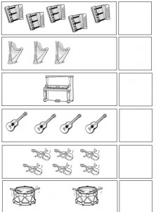 musical instruments number count worksheet for kindergarten  (1)