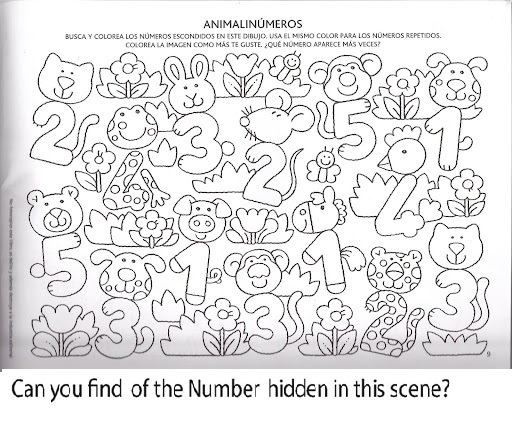 Number Hunt Worksheet For Kindergarten