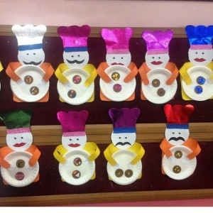 paper plate chef craft idea