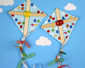 popsicle kite craft