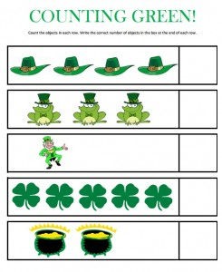 st patrick's day number count worksheet (1)