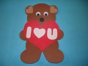 valentine day bear craft (2)