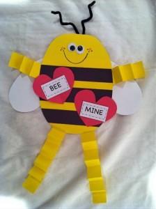 valentine day bee craft (1)