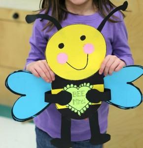 valentine day bee craft (2)